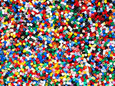 Types of sizes colored rubber granules for sale
